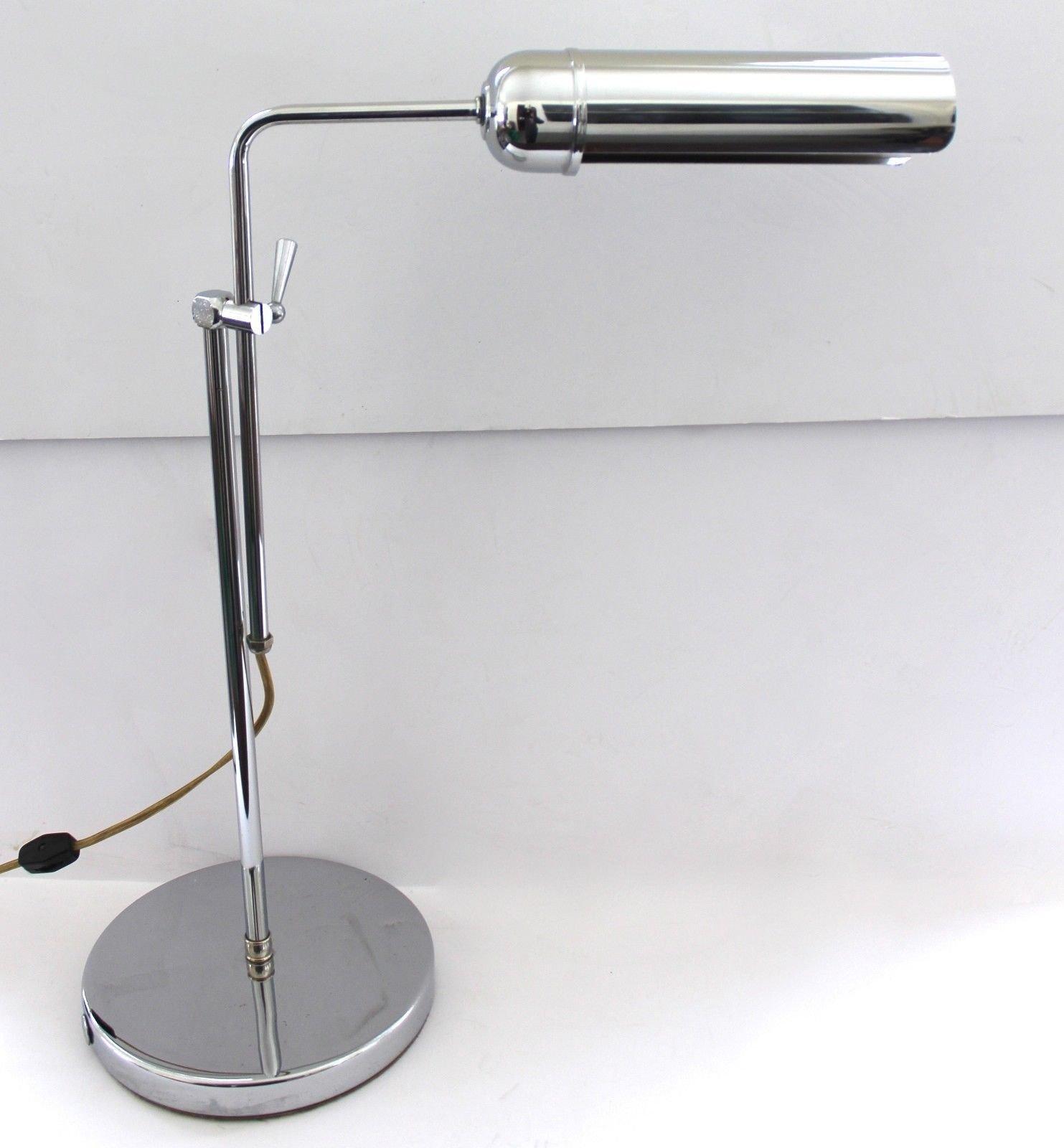 Tubular Chrome Desk Lamp