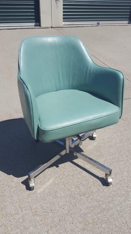 Teal Swivel Deskchair by Eck Adams