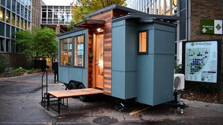 With more than 50 years of experience in residential construction (not to mention their first tiny home design in 1978), Tru Form Tiny Homes features floor plans that include convertible sofa beds and lofted bed options. The Verve line, available in a variety of lengths, consistently comes in at under 1000 square feet.