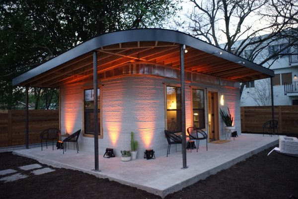 ICON's 3D-printed home is both a proof of concept, as well as an expression of 3D printing's capabilities to execute curved, unique designs.