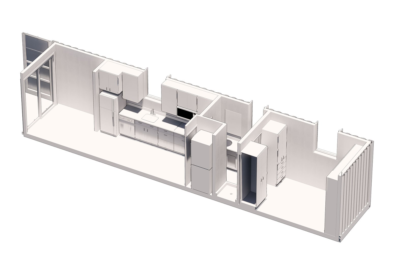 Homecube shipping container home floor plan
