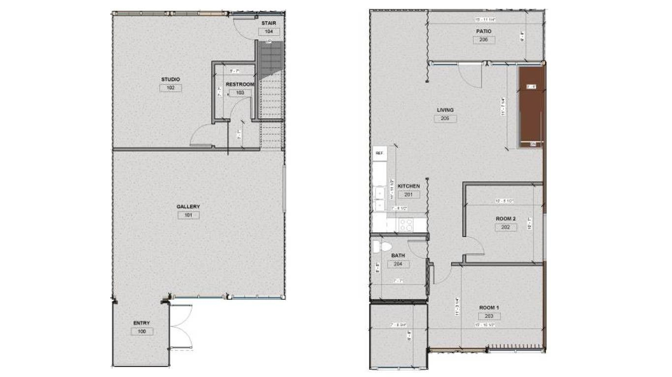 live/work 2070 shipping container home floor plan