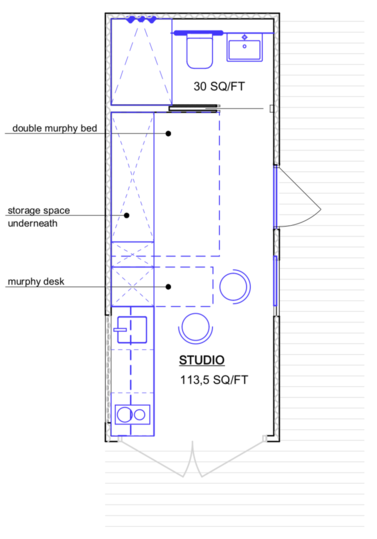 TAYNR 01S20 shipping container home floor plan