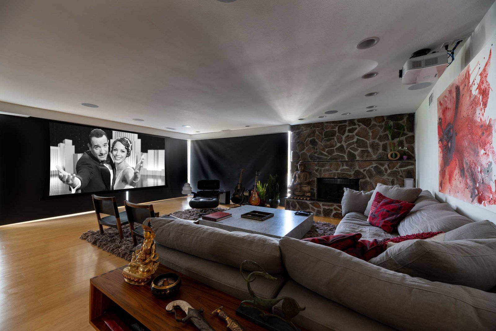 Richard Neutra Platform House home theater