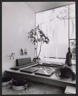Rudolph renovated this New Haven, Connecticut, townhouse for himself with a conversation pit, houseplants, and artwork.