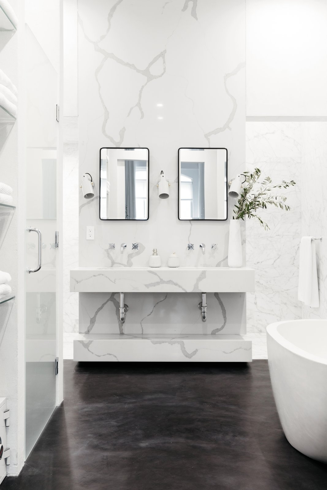 After being matched through Homepolish, Jae Joo designed this elegant bathroom for a client.  Photo 10 of 11 in 6 Design Apps and Services You Should Know for Your Next Renovation