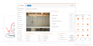 The web and mobile application created by Buildshop functions as a project management tool for clients and professionals in home renovations.