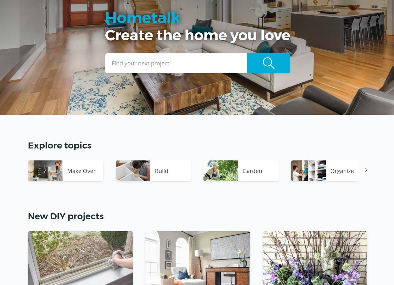 Hometalk's online platform is a mixture of Youtube, Pinterest, and Houzz for the DIY-er.  Photo 11 of 11 in 6 Design Apps and Services You Should Know for Your Next Renovation