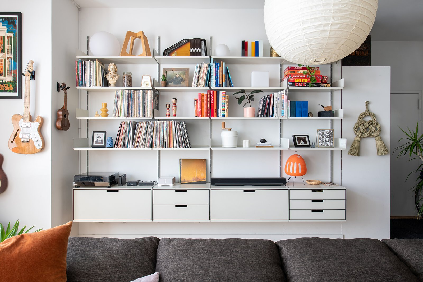 Brooklyn Loft living room storage