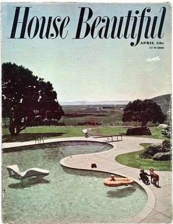 The Donnell Garden was on the cover of House Beautiful magazine in April of 1951.