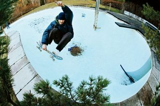 During the late 1970s and early 1980s, empty kidney pools presented ideal conditions for the development of skateboarding and its complex tricks because of their curved corners and pool edges.