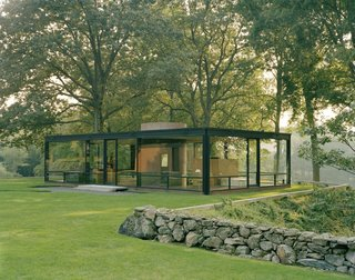 Philip Johnson's Glass House is in fact one building out of 14 that sit on the 49-acre property, each with their own approach to structure, geometry, siting, and proportion.
