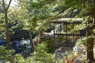 Manitoga, or Dragon Rock, was the residence of industrial designer Russel Wright and is filled with design details that incorporated nature, including rooms with boulders rising from the floors and a tiered layout that worked with the natural topography.