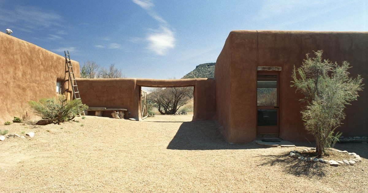 Visitors can take a trip toGeorgia O'Keeffe's former home and studio in Abiquiu, New Mexico and get a sense of the landscape and surroundings that inspired her.  Photos from 8 Famous Midcentury Homes You Can Actually Tour