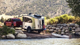 The Airstream Basecamp is one of the company's smallest travel trailers to date.