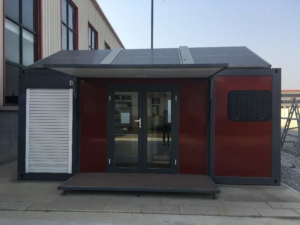 Solar panels on the roof make this prefabricated home more eco-friendly than many others on the market.  Photo 4 of 7 in 7 Tiny Homes You Can Buy on Amazon