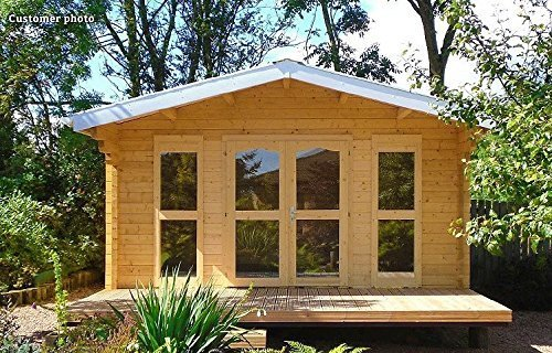 Construction of the Sunray by Allwood cabin kit is anticipated to take a full day of assembly for two adults.  Photo 7 of 7 in 7 Tiny Homes You Can Buy on Amazon