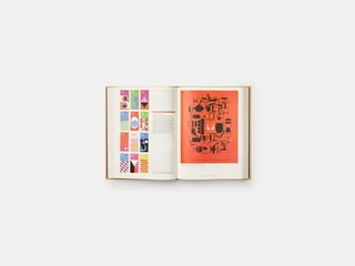 """Phaidon's """"Herman Miller: A Way of Living""""—at over 600 pages including references, an index, and a timeline—is filled with color illustrations ranging from inspiration images to Herman Miller advertisements."""