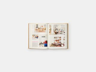 Spreads are colorful and engaging, with the majority of the content being visual images from the Herman Miller archives, from magazines and other publications, and various other publications.