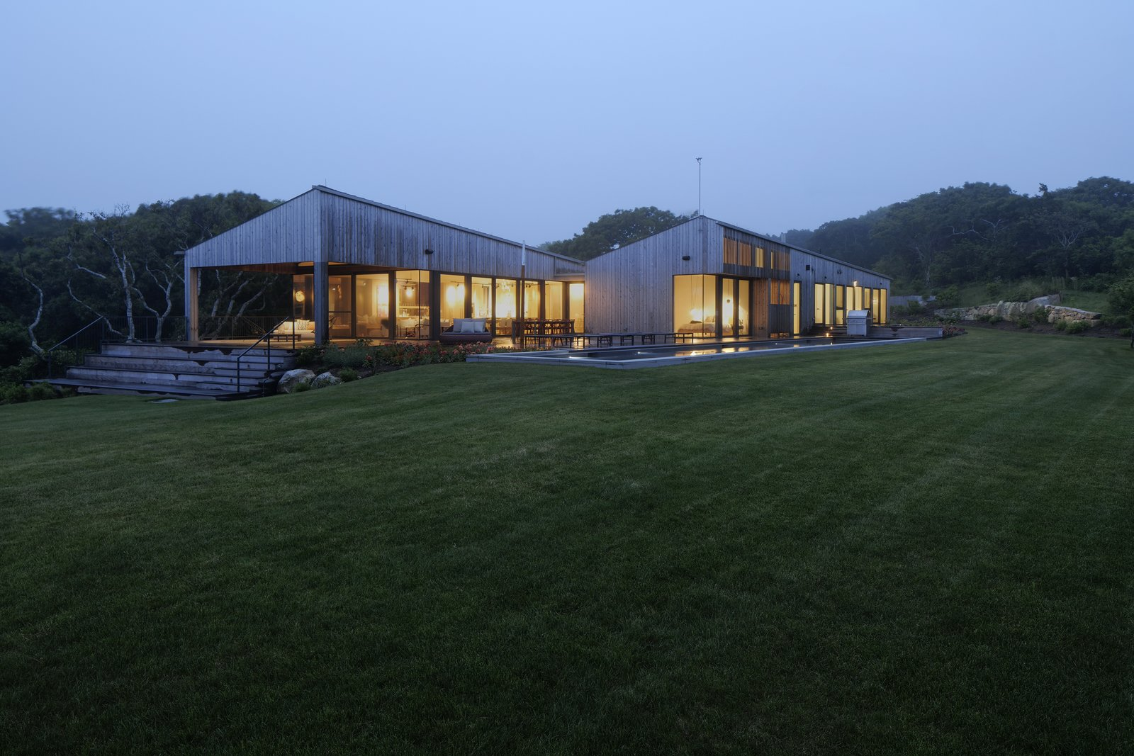 Two Cedar-Clad Sheds Make Up This Summer Retreat on Martha's Vineyard