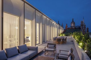One of the most significant interventions to the building is the rooftop addition, which added not only interior square footage but also a rooftop terrace with greenery.