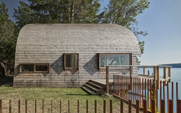 We're Nuts About This Acorn-Shaped Cabin on an Island in British Columbia
