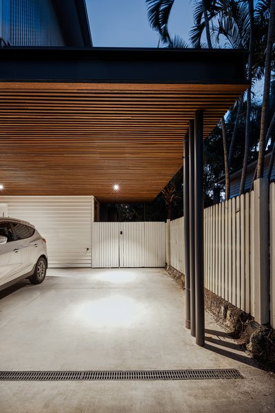 The car port shares part of the lower level, providing easy, direct access to the bedrooms.