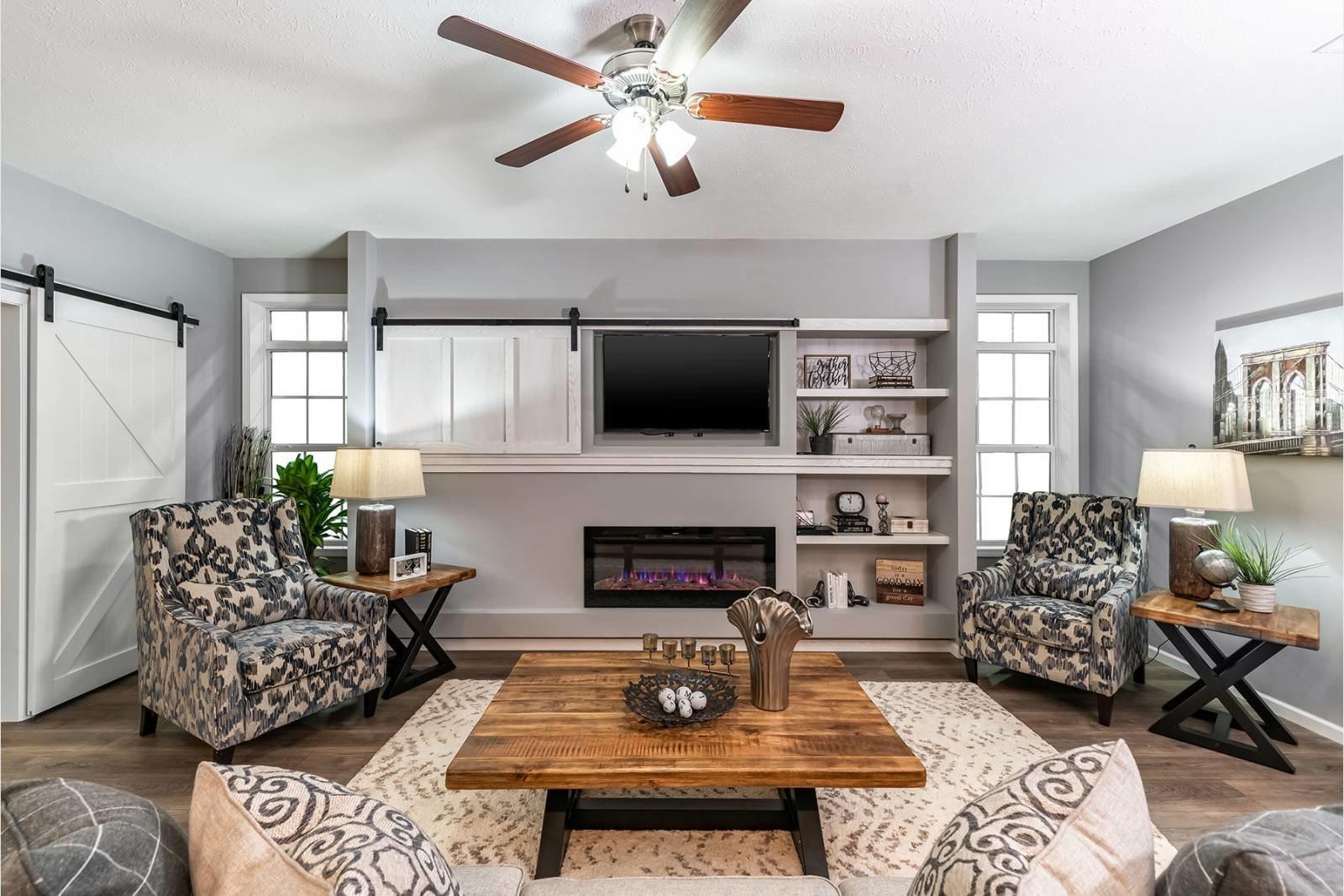 Redman Homes prefab living room