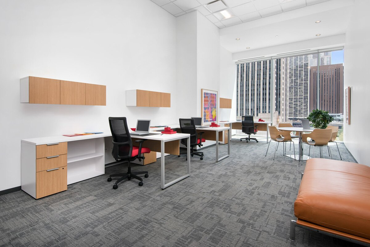 The office spaces in Optima Signature, a mixed-use building in Chicago, are being rented as alternative learning spaces for locals.  Photo 5 of 6 in Can Empty Offices and Hotels Help Alleviate the Housing Crisis?