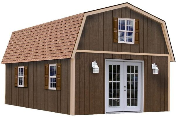 BetterShed's Richmond kit provides a two-floor space with dimensions of 16 feet by 28 feet. The kit includes the main framing components for the shed, but windows, doors, lighting, and other elements like foundations and insulation are not included.