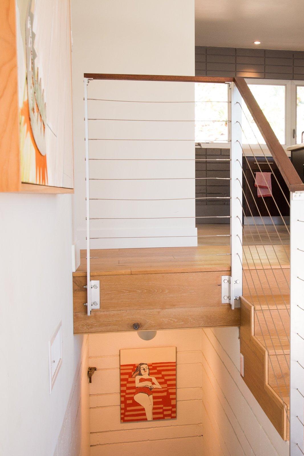 White Oak Flooring + Custom Railing  Edgewood