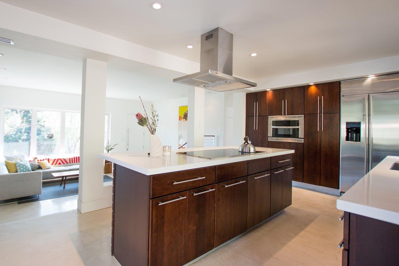 Custom Kitchen: Solid Cherry Casework, Quartz Countertops + Polished Concrete Floors  Edgewood