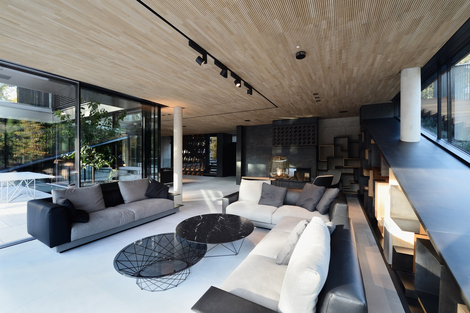 Living room with the fireplace  33 by Architect Zoran Bodrozic