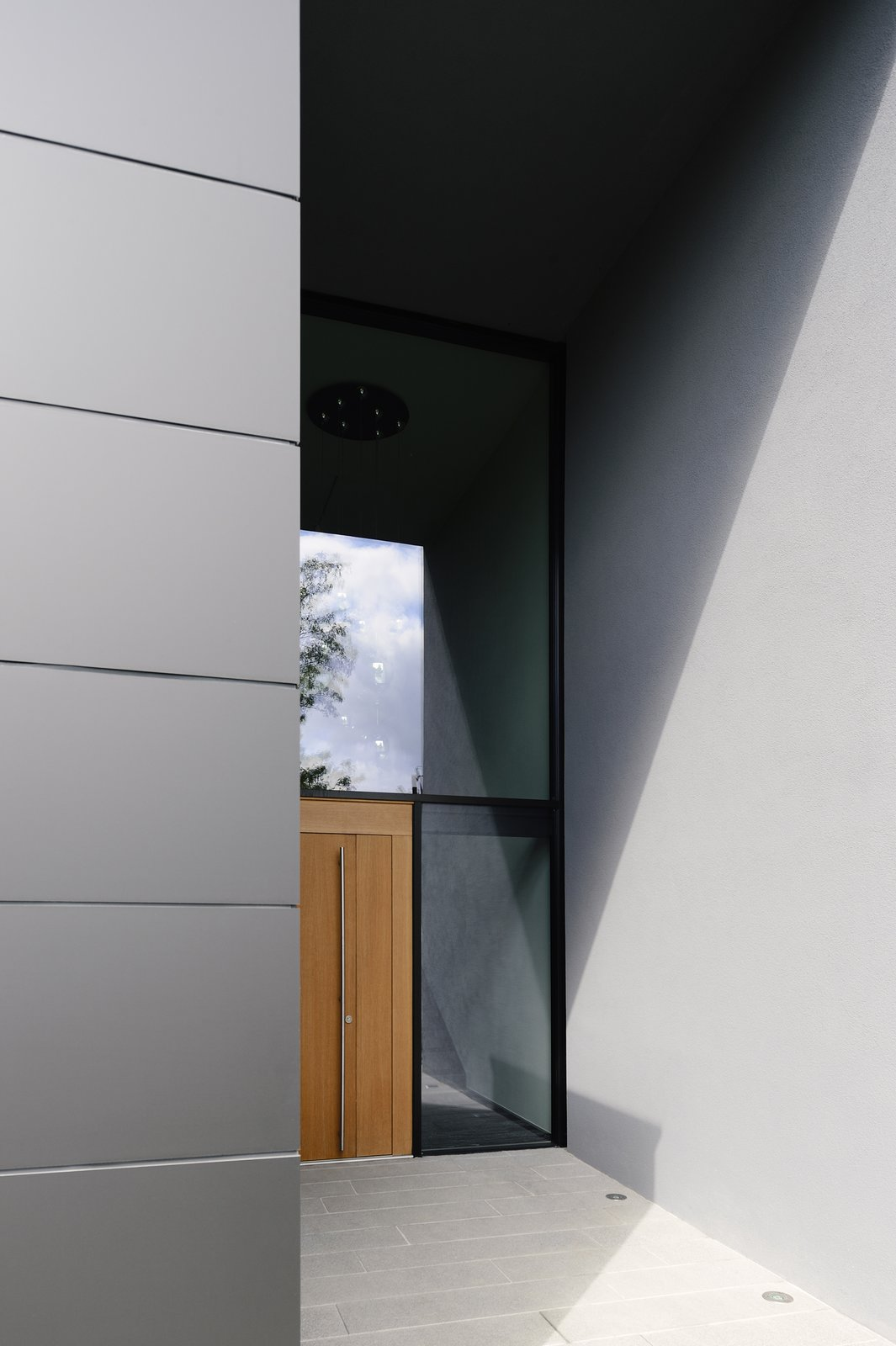 Entrance to the house  H_O by Architect Zoran Bodrozic