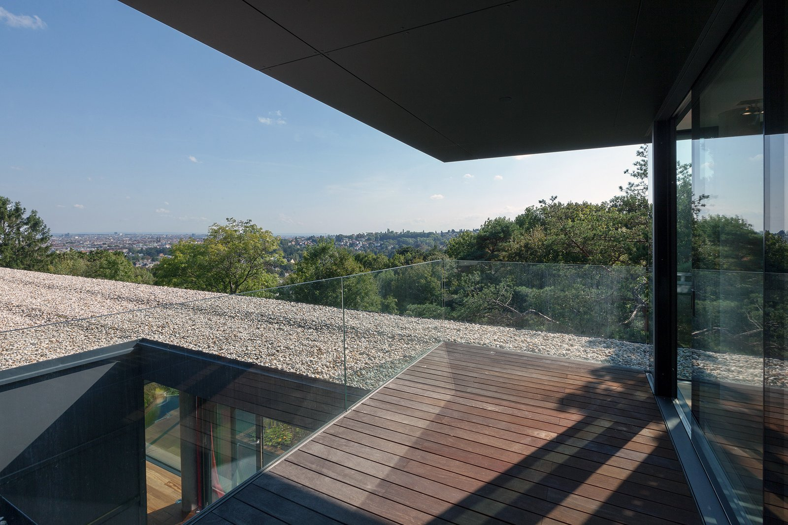 Roof terrace of the office level  Black Pearl by Architect Zoran Bodrozic
