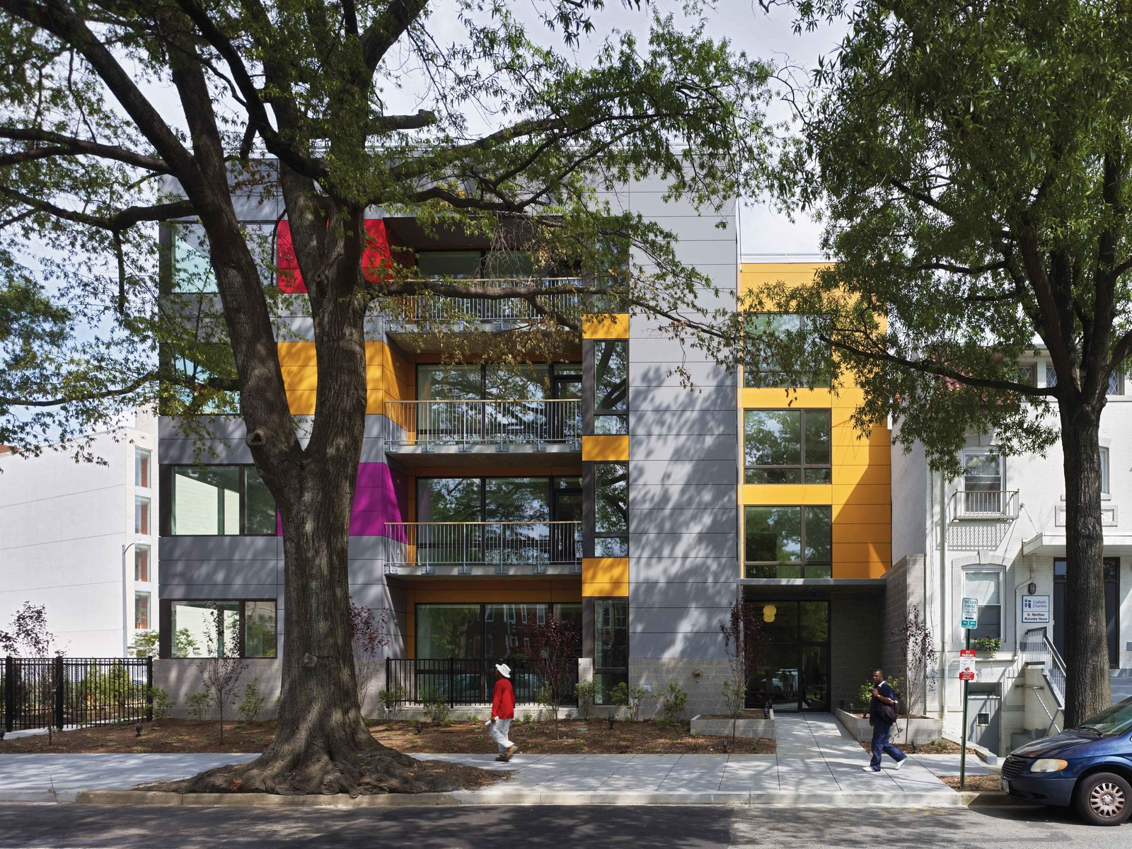 Building entrance along Rhode Island Avenue NW  In Living Color by Suzane Reatig Architecture