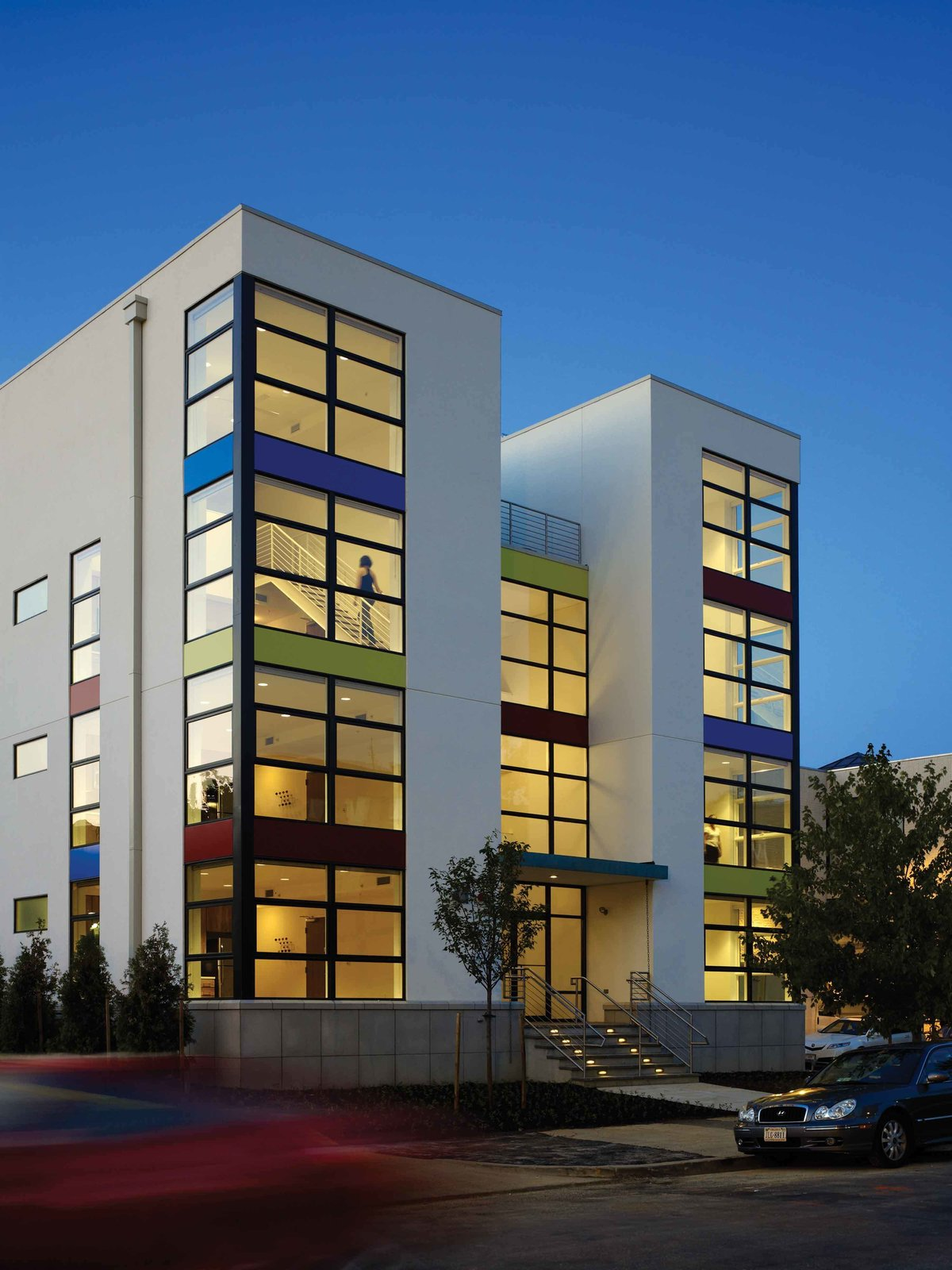 Front entrance to the building  Bailey Lofts by Suzane Reatig Architecture