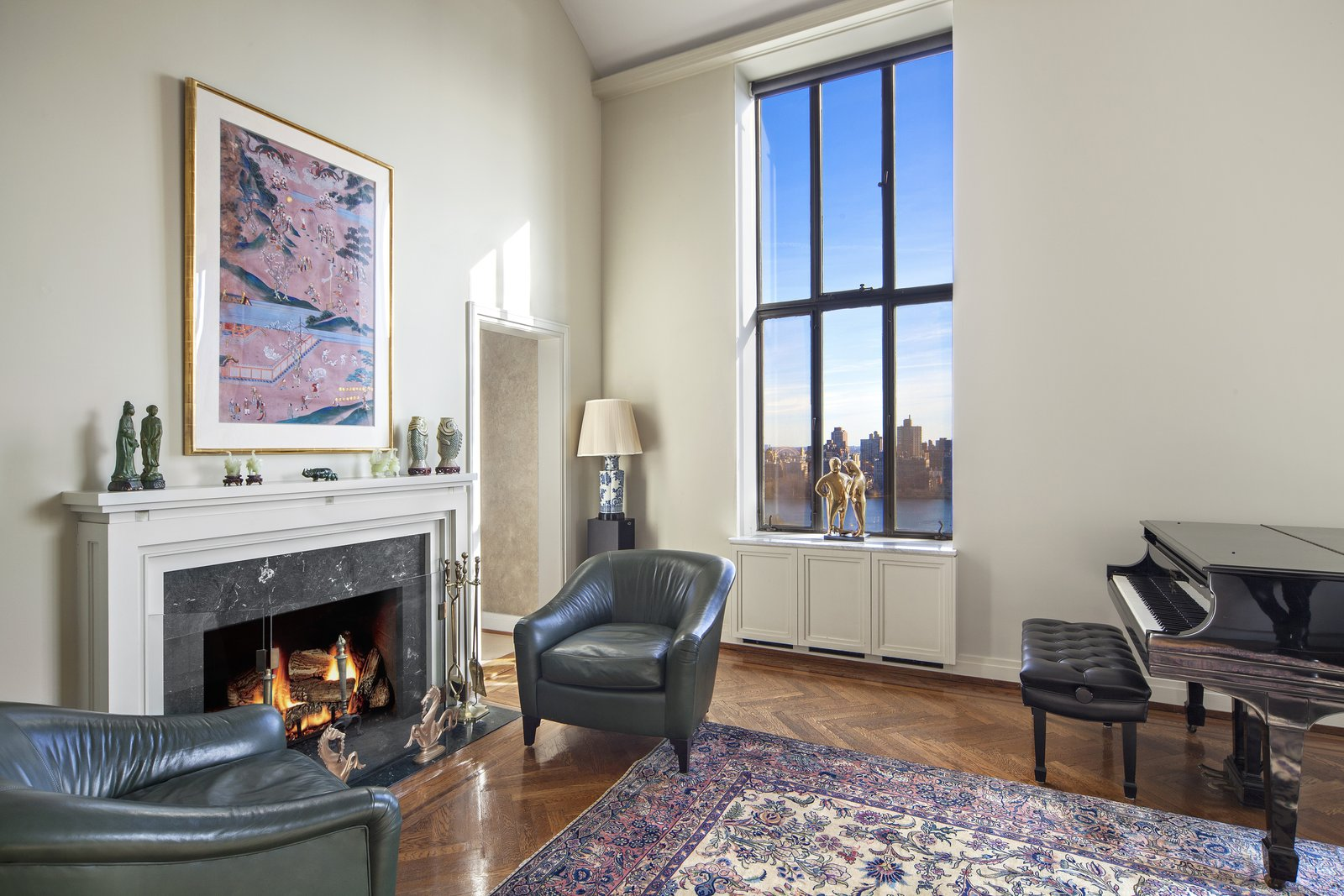 Fireplace with a View  Magical Manhattan Penthouse