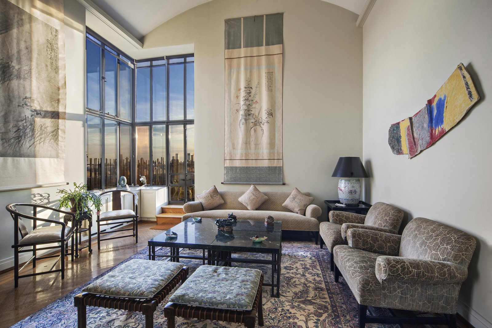 Living Room with Terrace Access  Magical Manhattan Penthouse