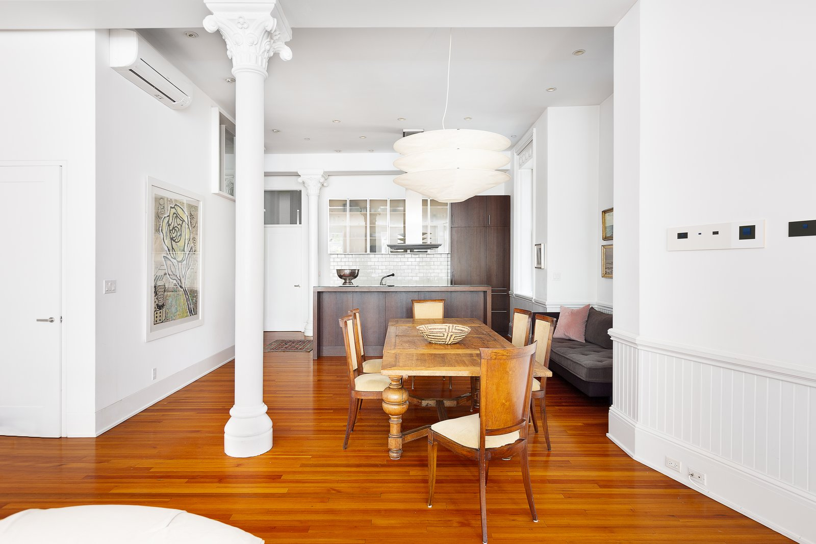 Dining Room The flexible layout allows for plenty of entertaining.  Renovated Co-op in Historic Astor Memorial School