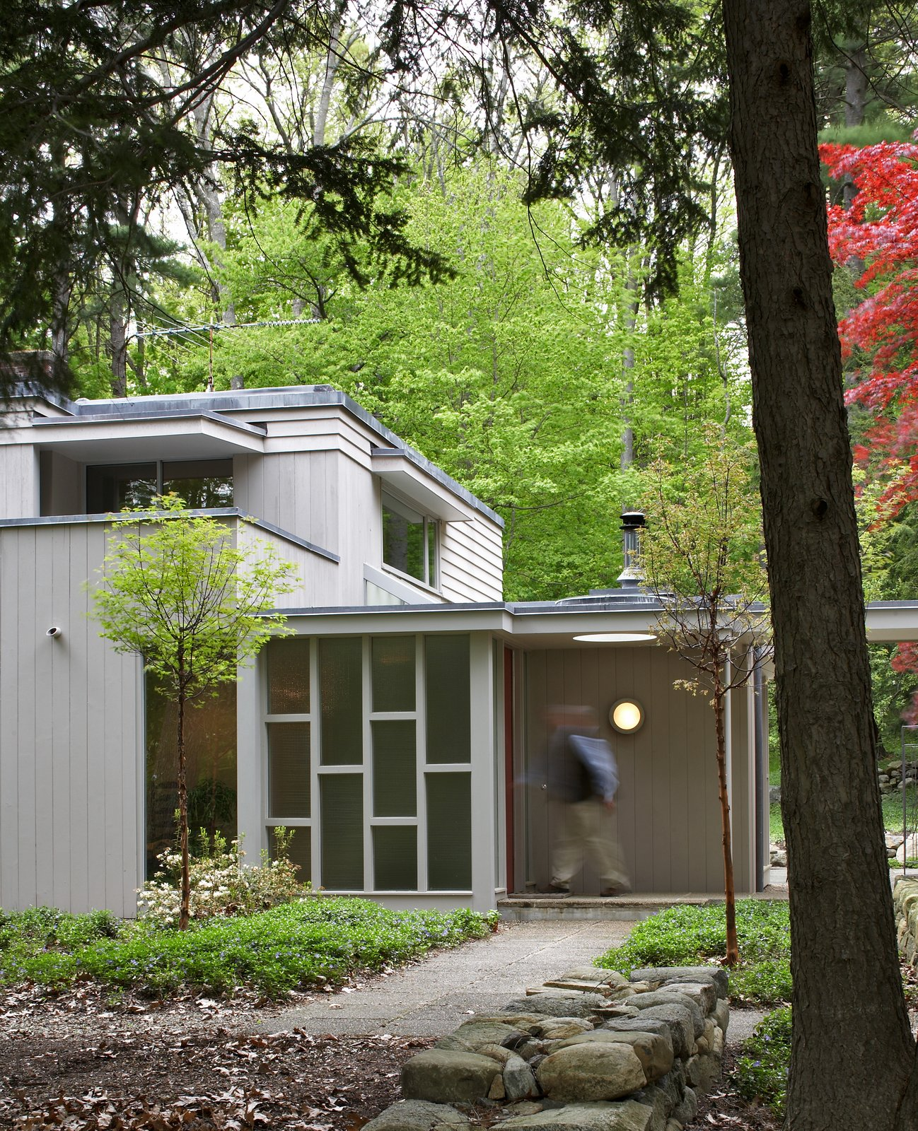 The new entrance and vestibule leading into the original house.  Giese House by Wolf Architects, Inc.