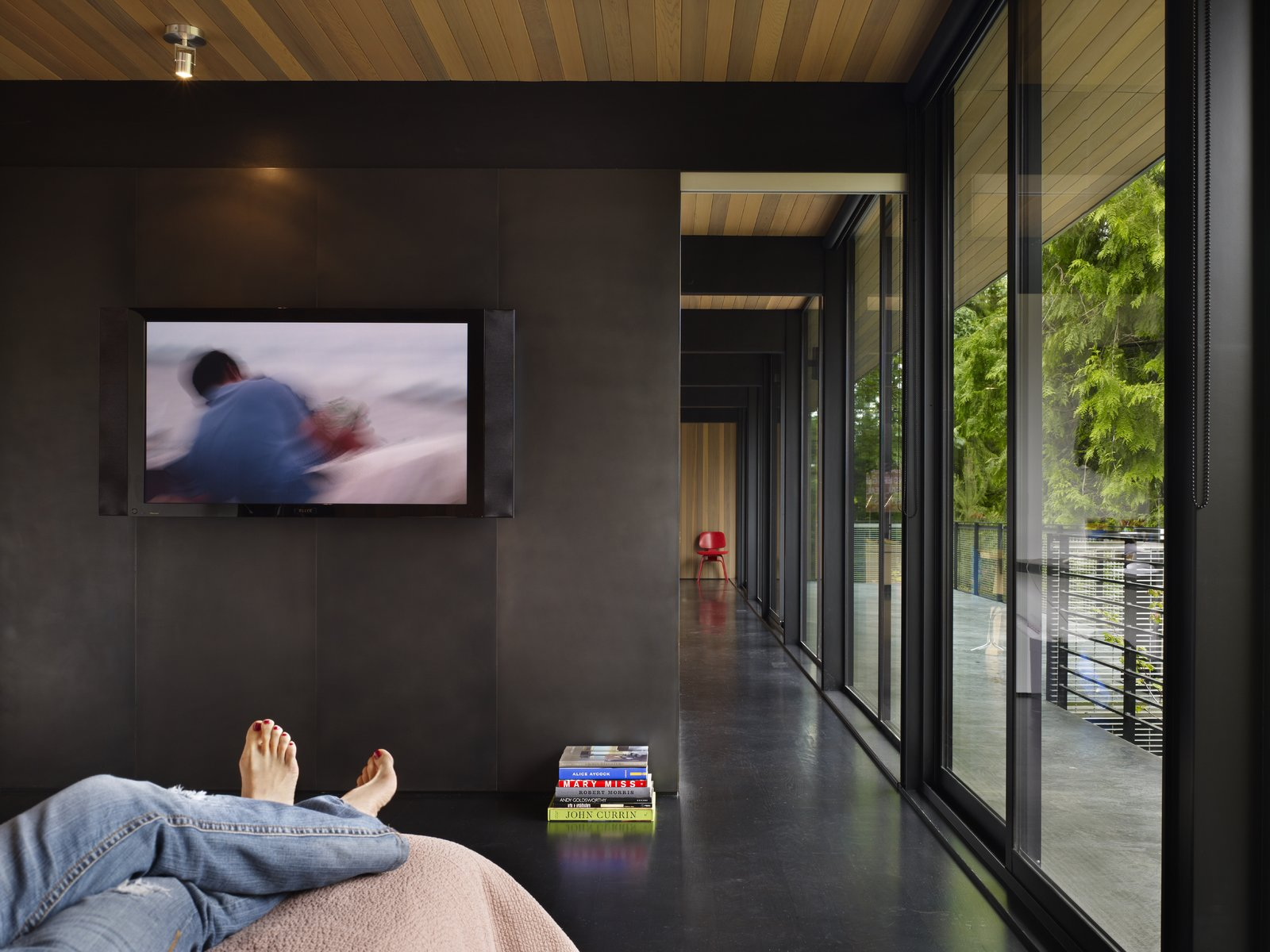 Bedroom  Wood Block Residence by chadbourne + doss architects