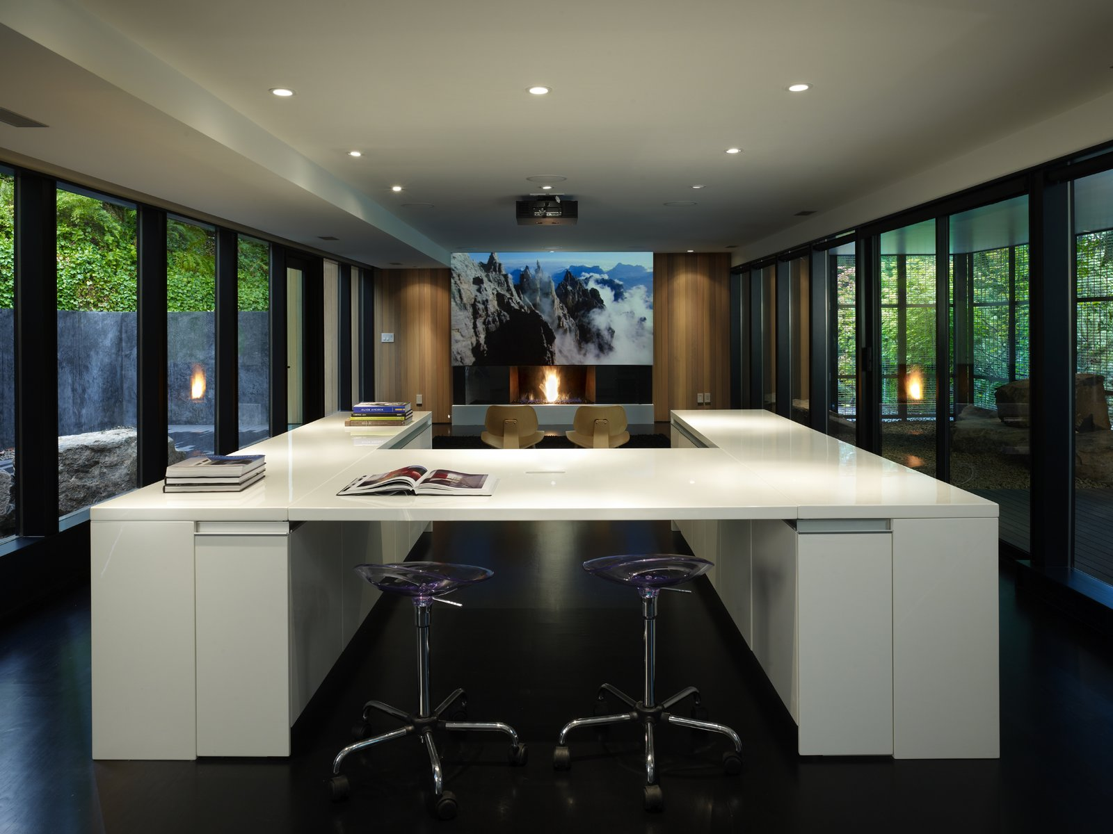 Media Room  Wood Block Residence by chadbourne + doss architects