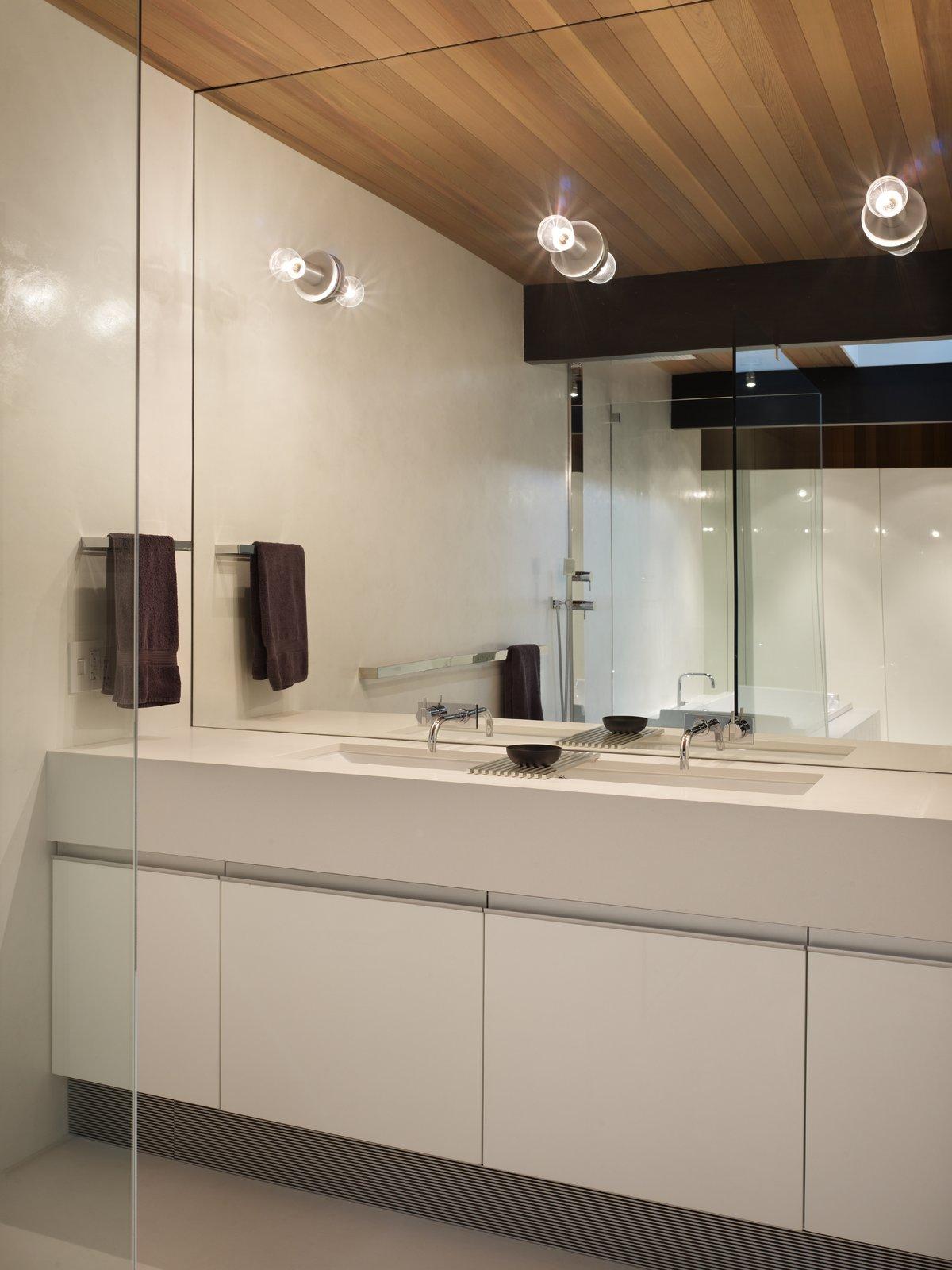 Master Bathroom Vanity  Wood Block Residence by chadbourne + doss architects