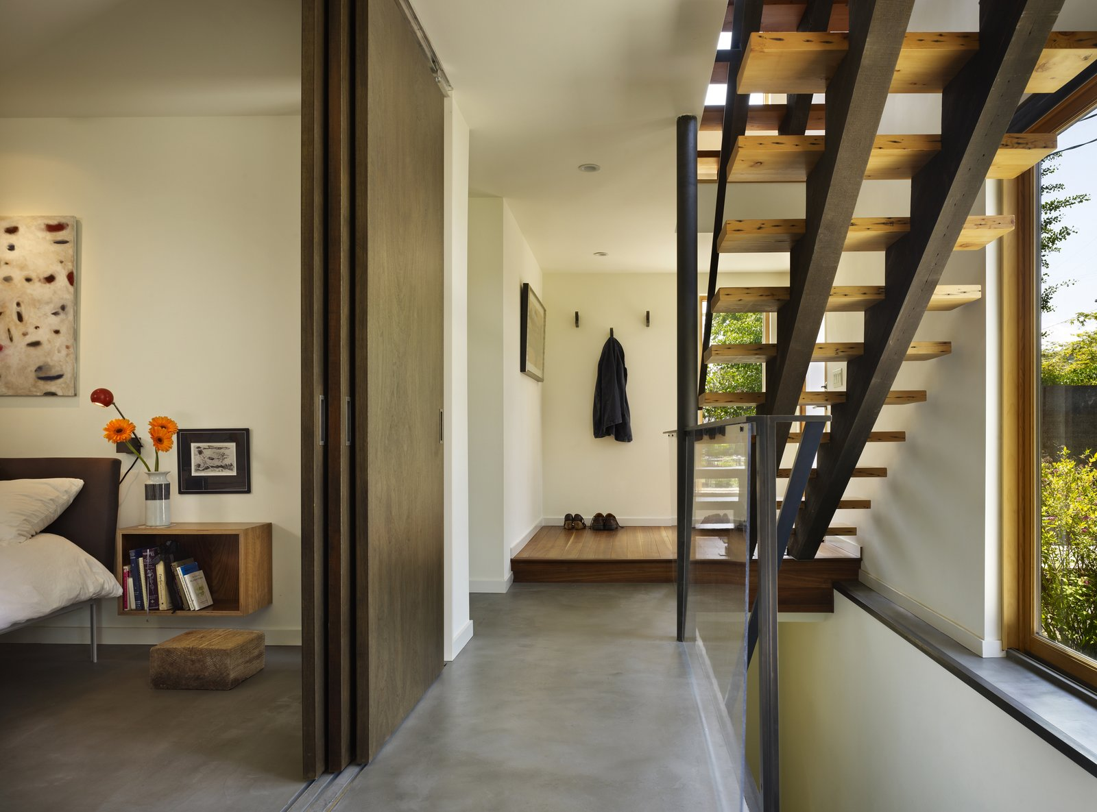 Bedroom & Entry Hall  Lobster Boat House by chadbourne + doss architects