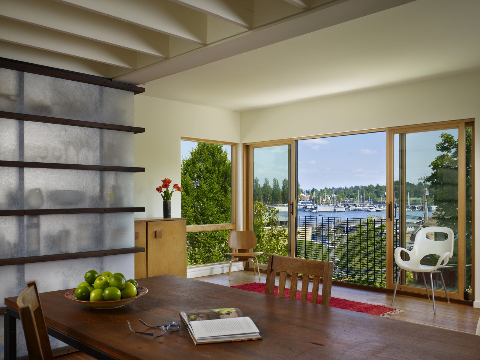 Dining & Living Room  Lobster Boat House by chadbourne + doss architects