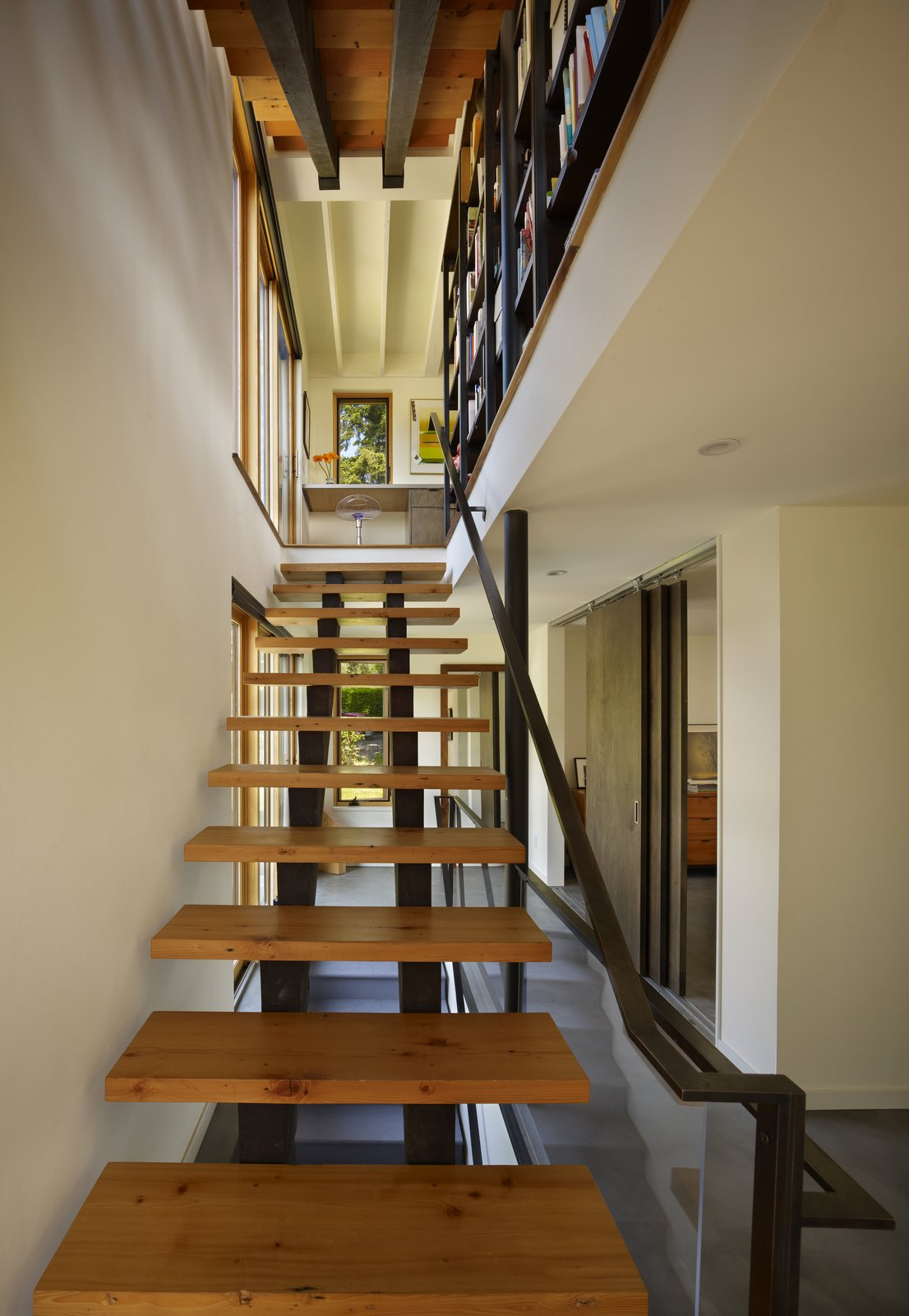 Entry Stair  Lobster Boat House by chadbourne + doss architects