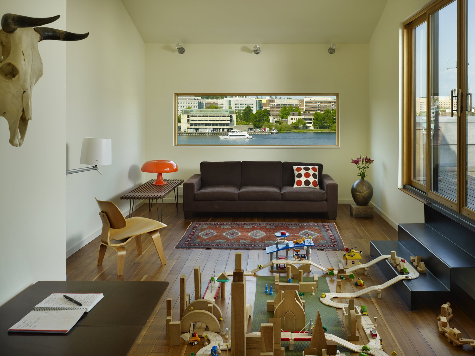 Family Room  Lobster Boat House by chadbourne + doss architects