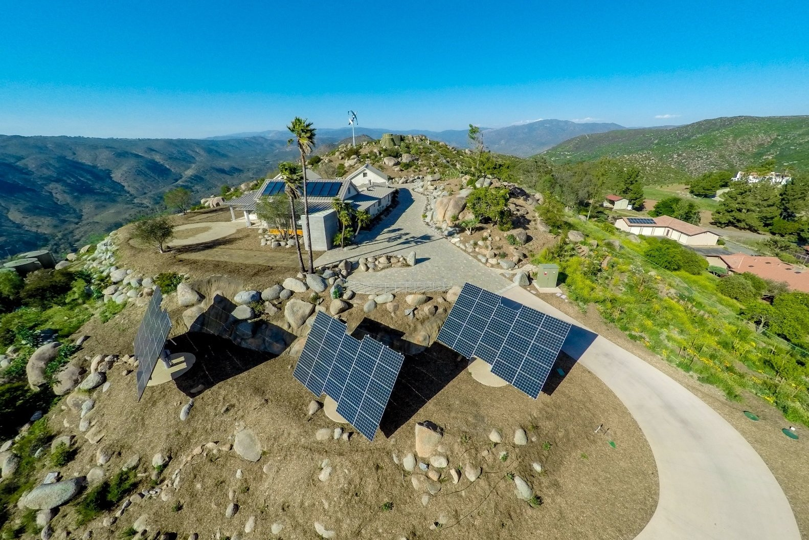 Casa Aguila Drone Photo of Home and Solar Panels  Casa Aguila