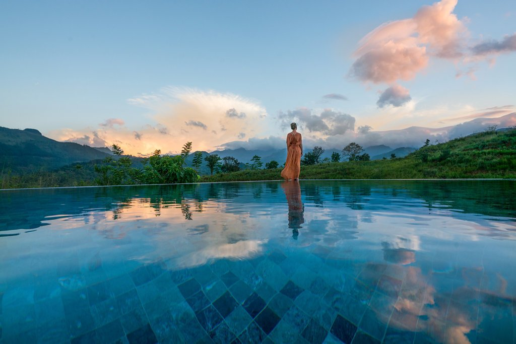 Infinity Pool  Santani Wellness Resort and Spa